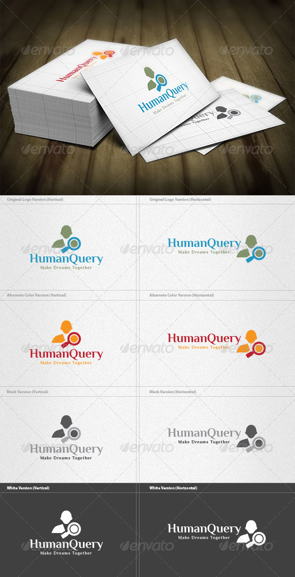 Human Query Logo - Humans Logo Templates