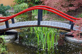 Red bridge over pond - PhotoDune Item for Sale