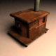 Low Poly Old Diesel Fireplace