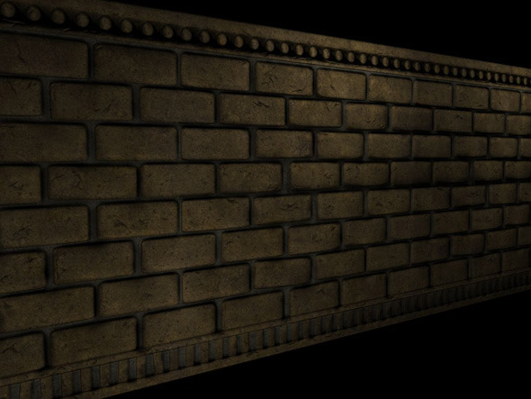 3DOcean Brick Wall Section 4589803