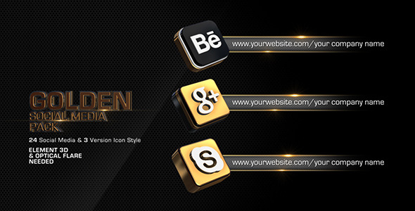 Golden Social Media Pack