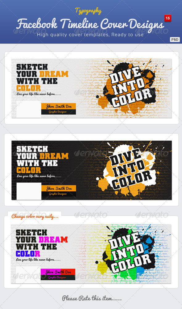 GraphicRiver Typography Facebook Timeline Cover 15 4589982
