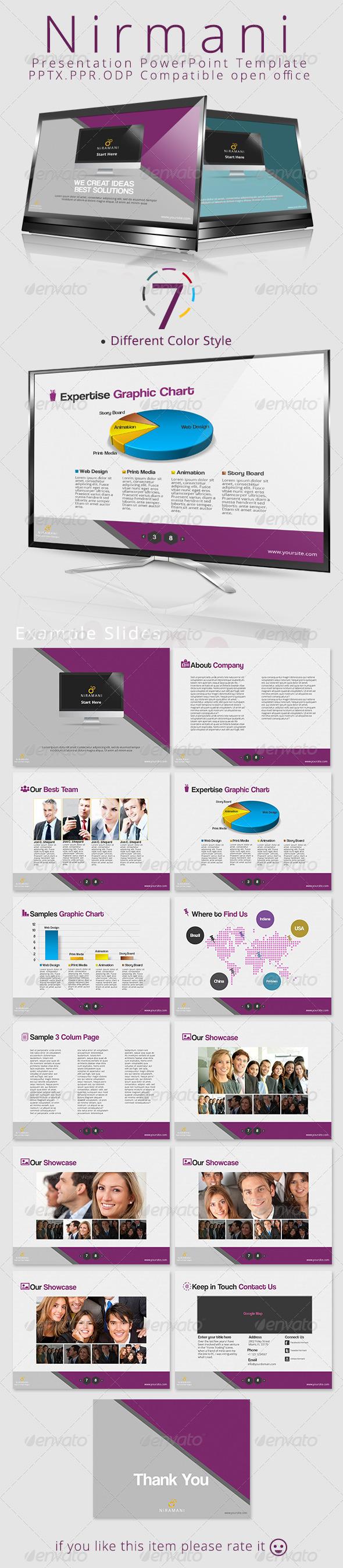 GraphicRiver Niramani Powerpoint Presentation Template 4576481