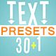 30+1 Text Presets - VideoHive Item for Sale