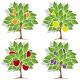 Four Fruit Trees - GraphicRiver Item for Sale