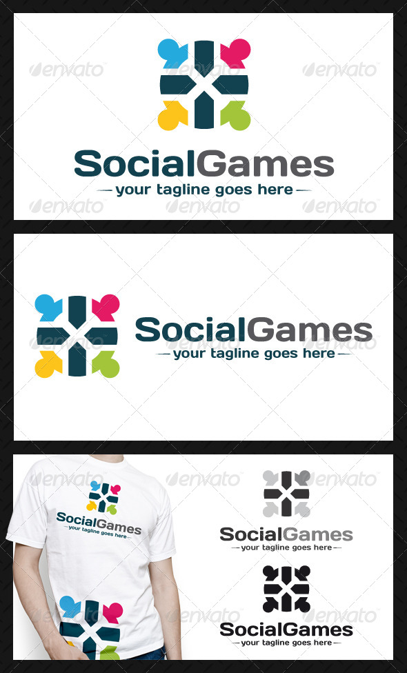 GraphicRiver Social Games Logo Template 4590784