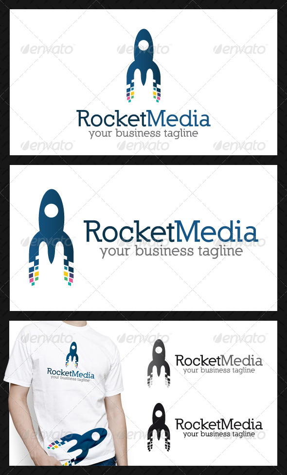 Rocket Media Letter M Logo Template