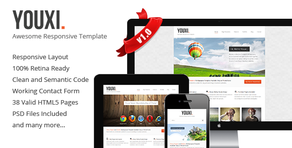 ThemeForest Youxi Multipurpose Responsive HTML5 Theme 4591042