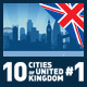 Vector City Skyline Set. United Kingdom #1 - GraphicRiver Item for Sale