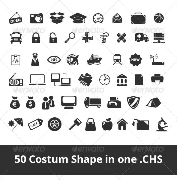 GraphicRiver 50 Costum Shape 4591198