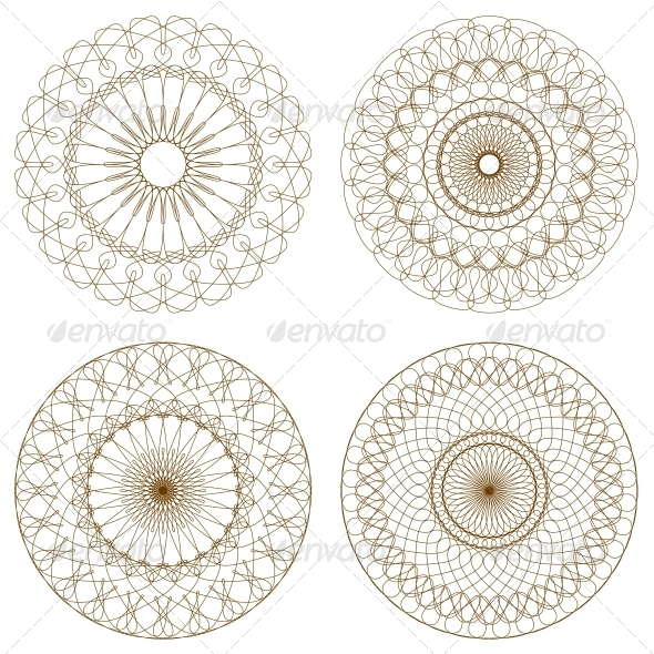 GraphicRiver Set of Vector Guilloche Rosettes 4591208