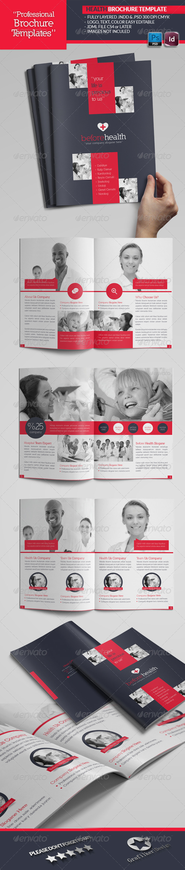 GraphicRiver Health Brochure Template 4503426
