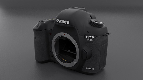 3DOcean Canon 5D mark III Body 4591226
