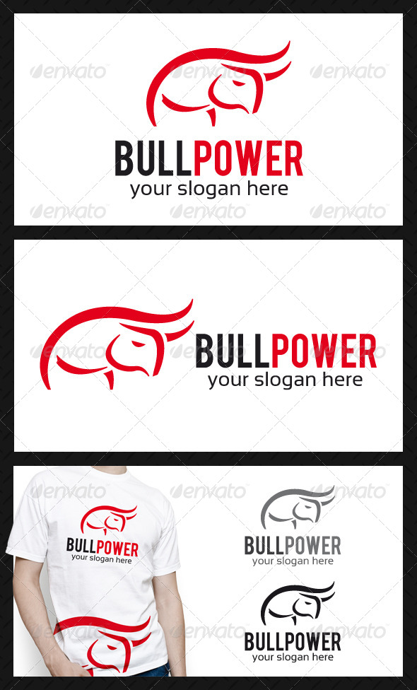 GraphicRiver Bull Power Logo Template 4591228