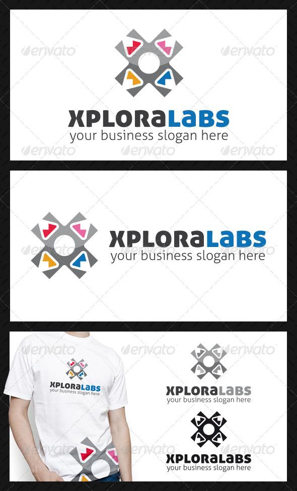 GraphicRiver Xplora Labs Letter X Logo Template 4591254