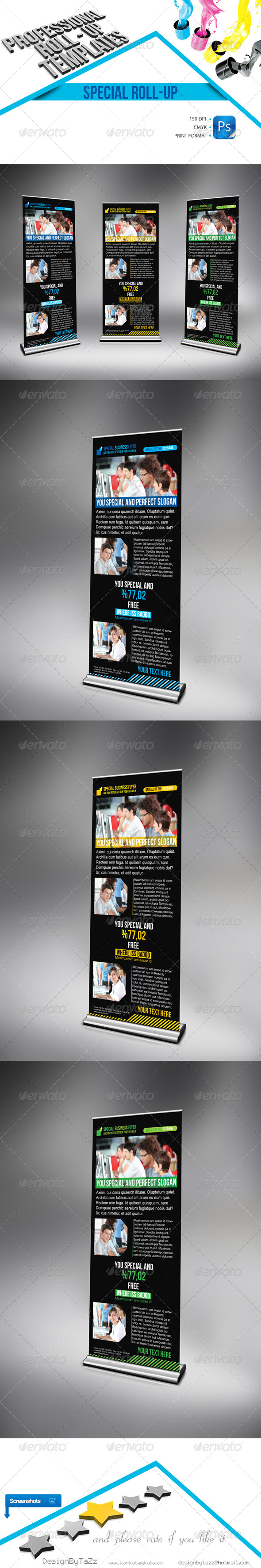 GraphicRiver Special Business Roll-Up Template 4497977