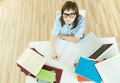 Student by the desk - PhotoDune Item for Sale