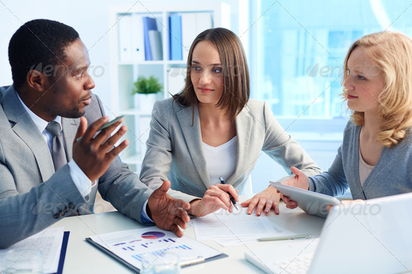 Leader speaking - Stock Photo - Images