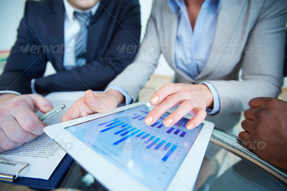 Reviewing results - Stock Photo - Images