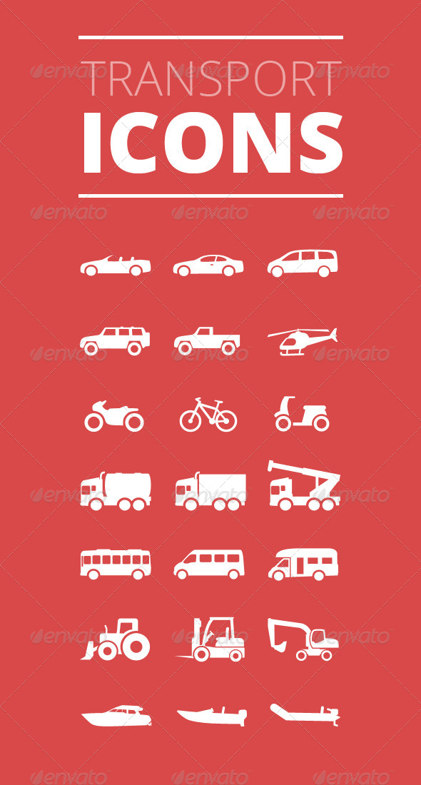 GraphicRiver Transport Icons Premium Vector Iconset 4591599