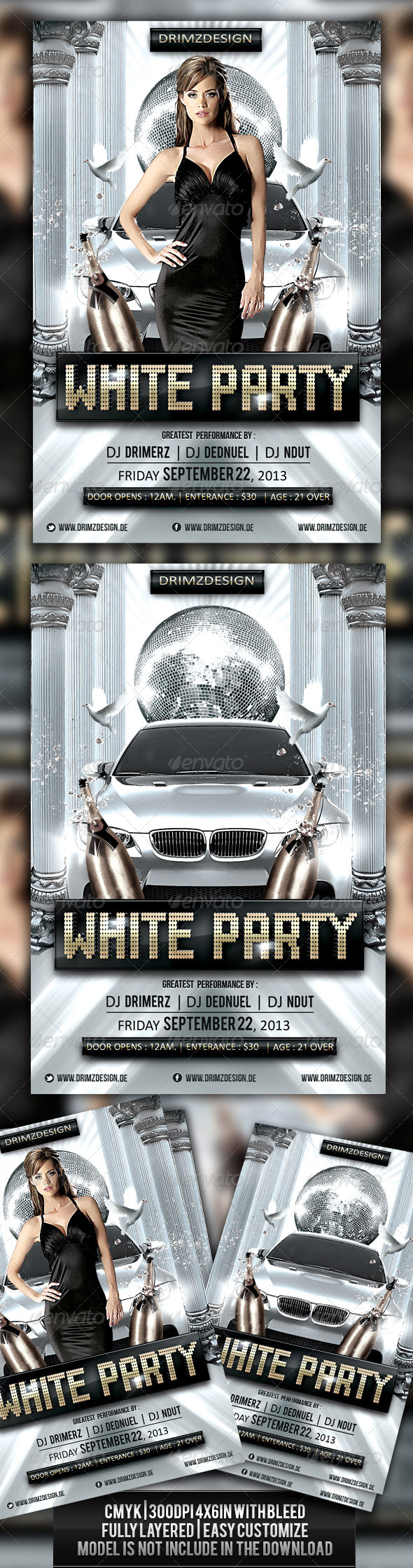 GraphicRiver White Party Flyer 3762991