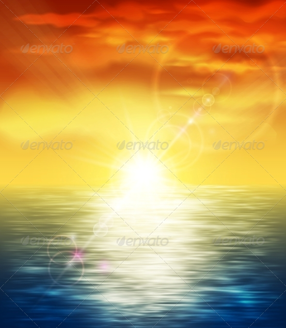GraphicRiver Sunset at Sea 4591759