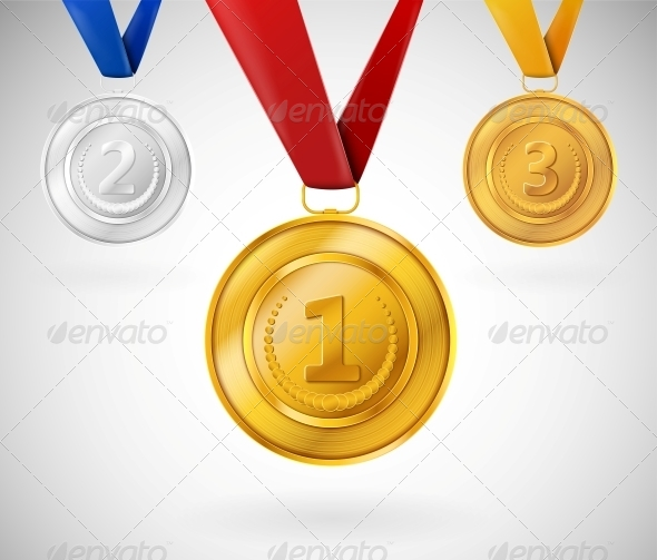 GraphicRiver Set of Medals 4591890