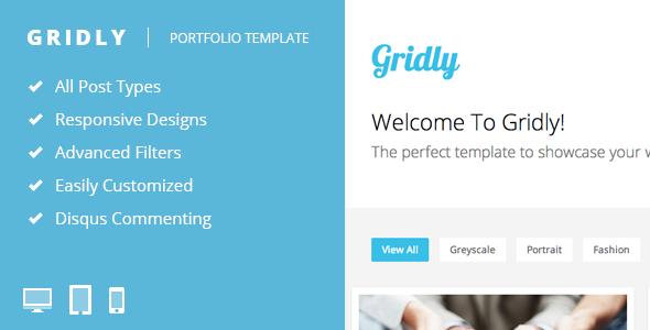 Gridly - Reponsive Portfolio Template - Portfolio Tumblr
