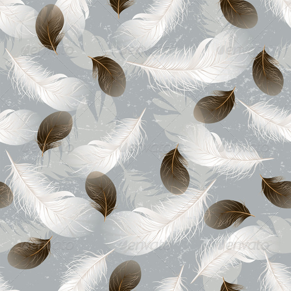 GraphicRiver Seamless Background with Feathers 4592047