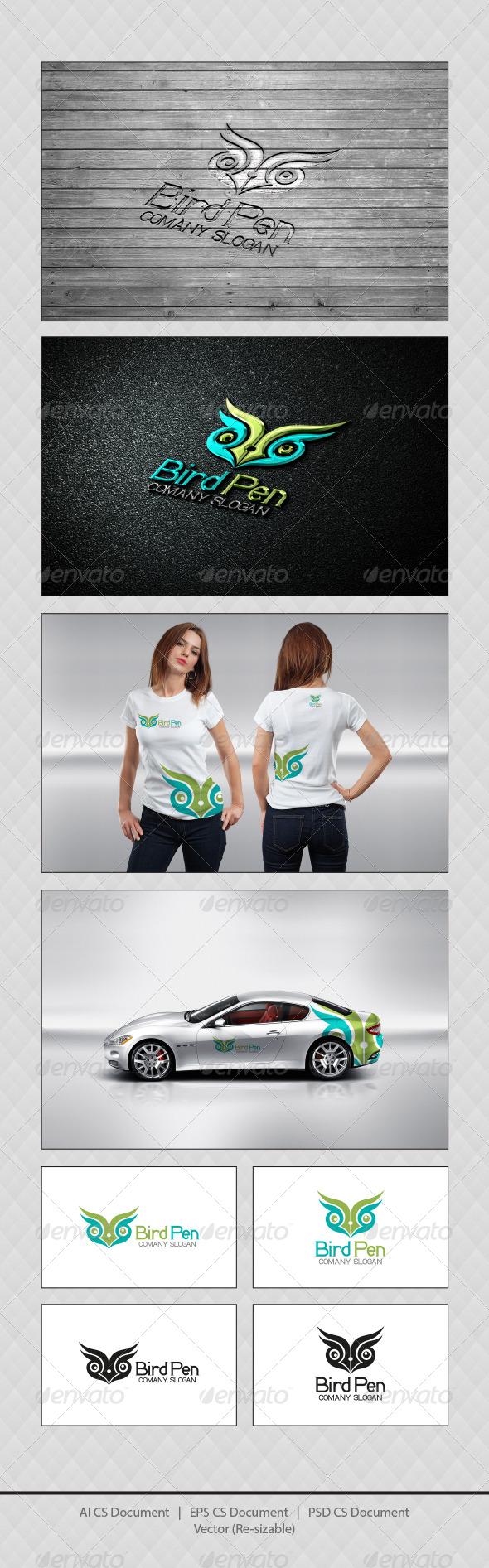 GraphicRiver Bird Pen Logo Templates 4509088