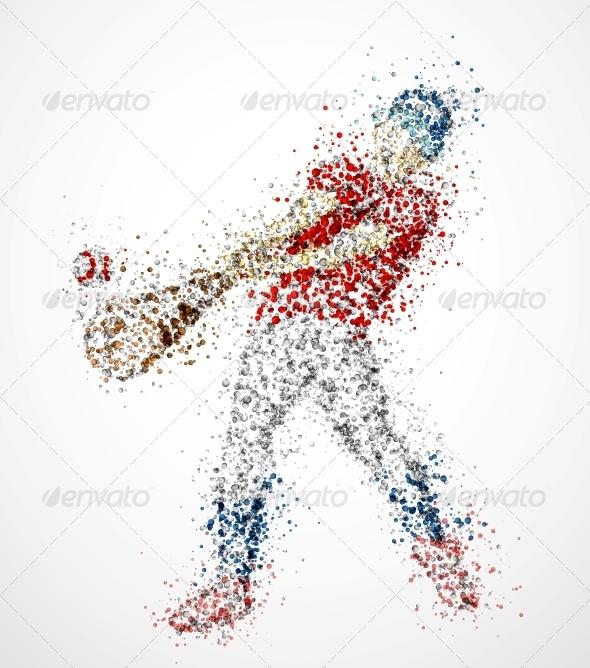 GraphicRiver Abstract Baseball Player 4592058