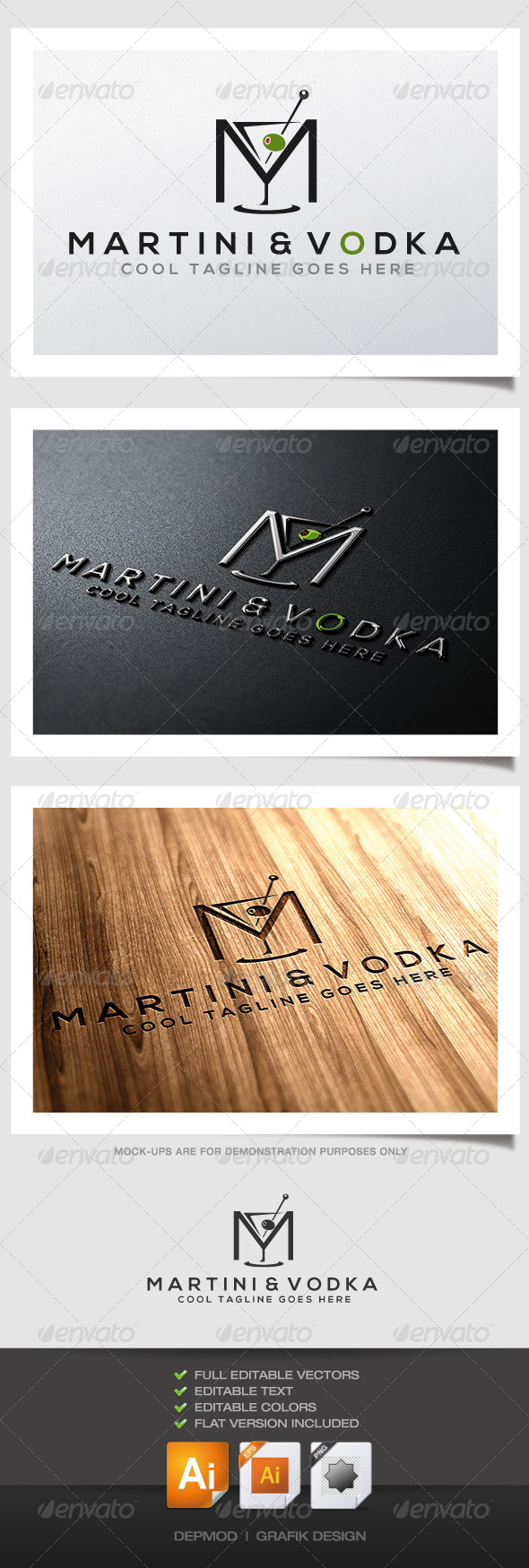 GraphicRiver Martini & Vodka Logo 4577682