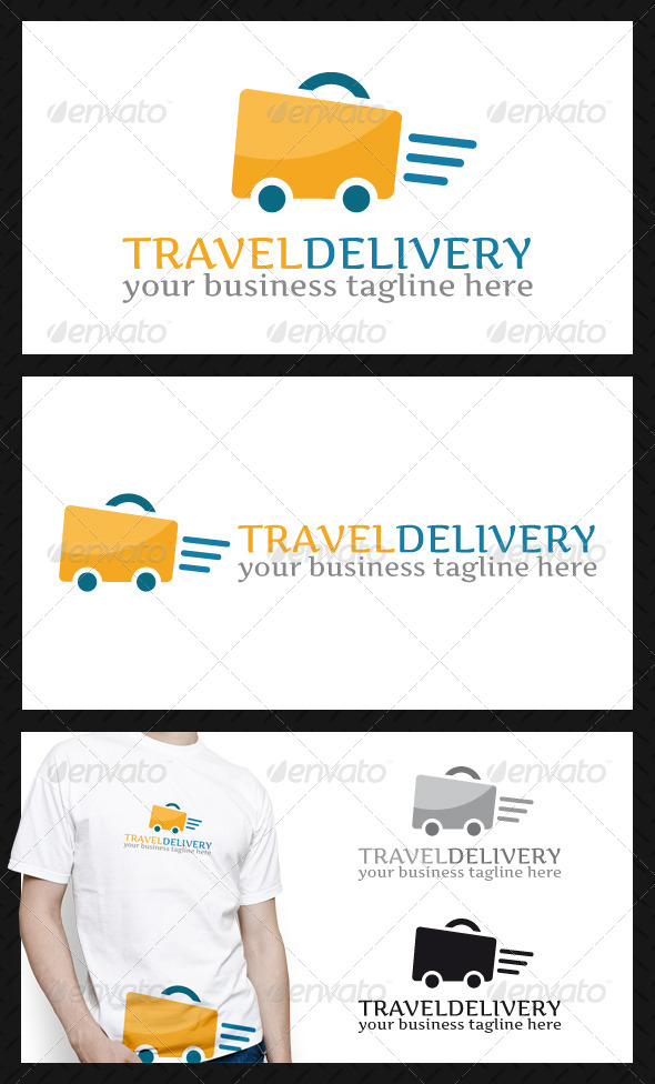 GraphicRiver Travel Fast Delivery Logo Template 4592226