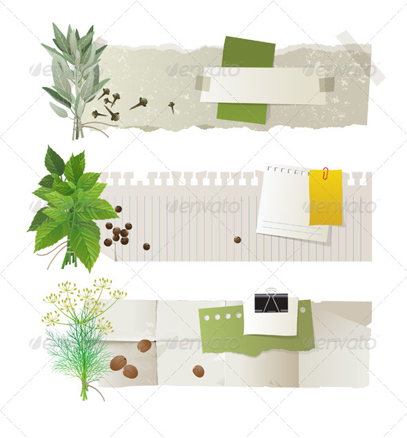 GraphicRiver Herbal Banners 4592230