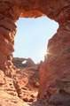 Sunburst at Turret Arch with South Window in Arches National Park - PhotoDune Item for Sale
