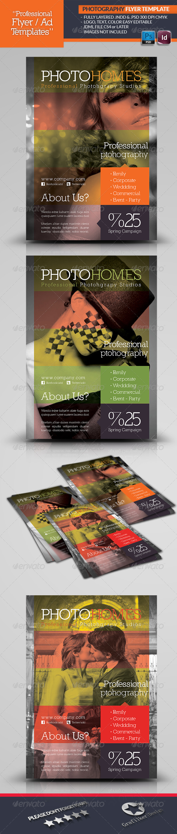 GraphicRiver Photography Flyer Template 4592277