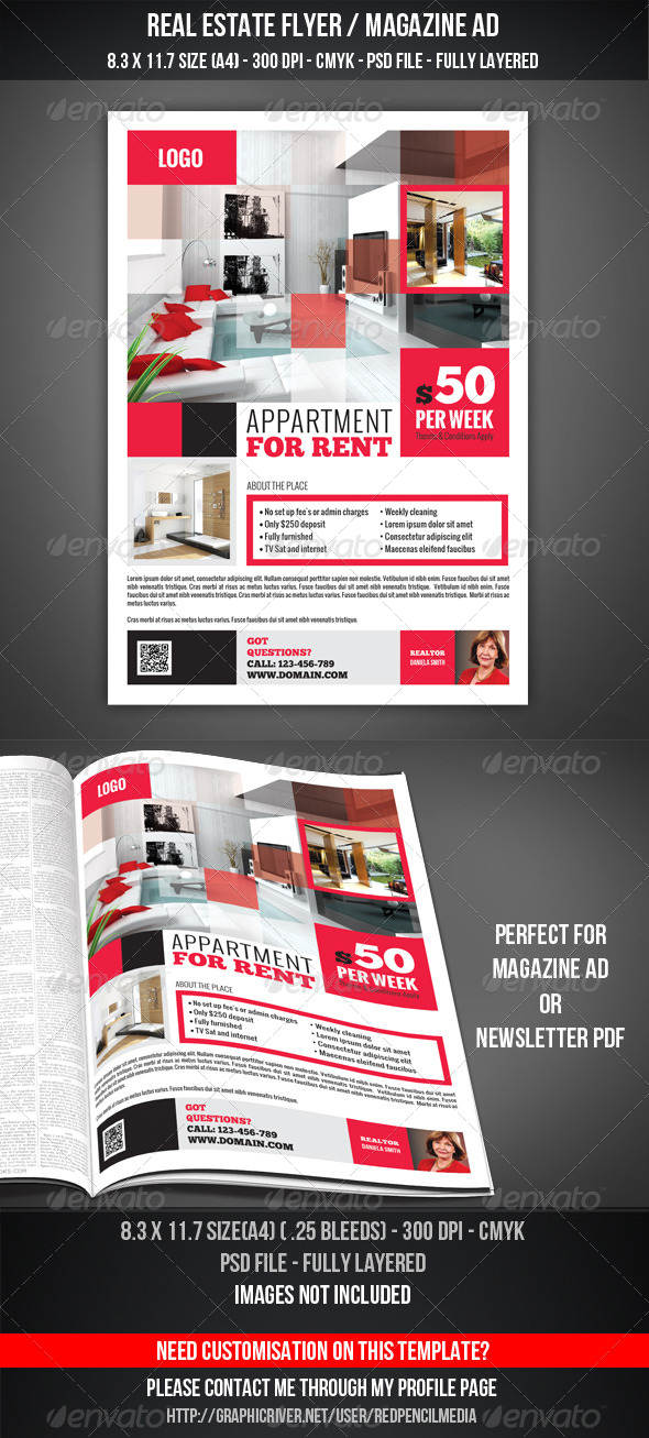 GraphicRiver Real Estate Flyer Magazine AD 4592364