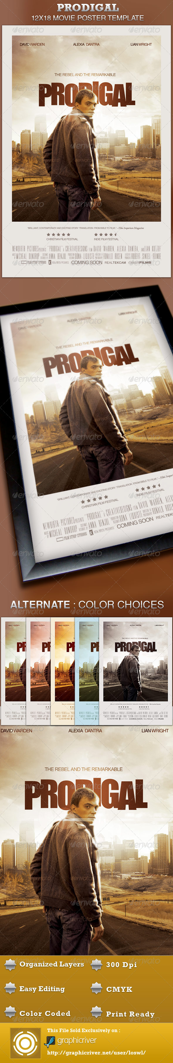 GraphicRiver Prodigal Movie Poster Template 4508816