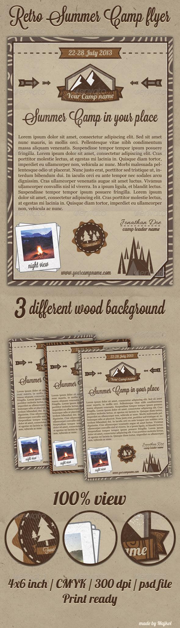 GraphicRiver Retro Summer Camp Flyer 4592539