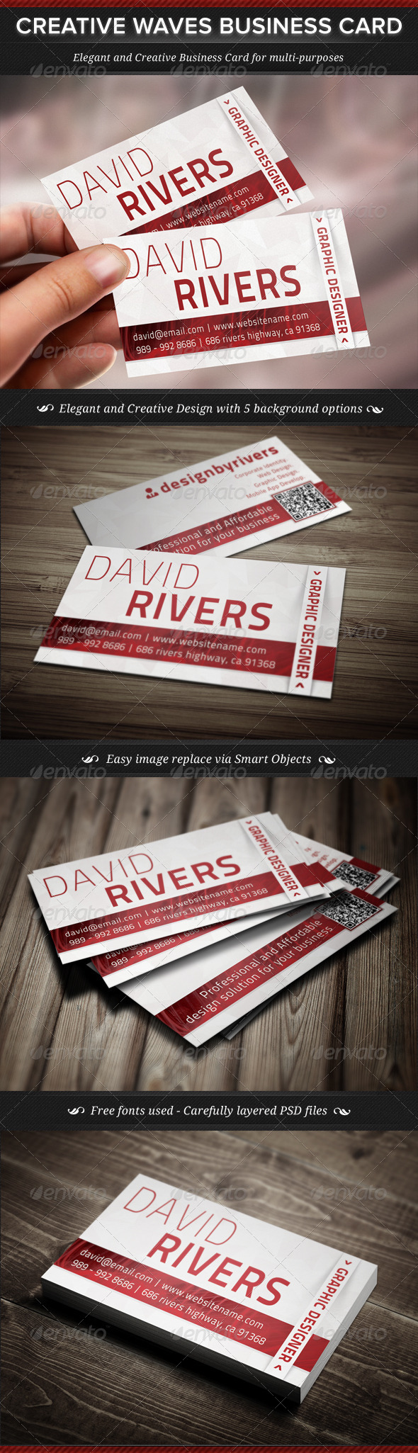 GraphicRiver Creative Waves Corporate Business Card 4592584
