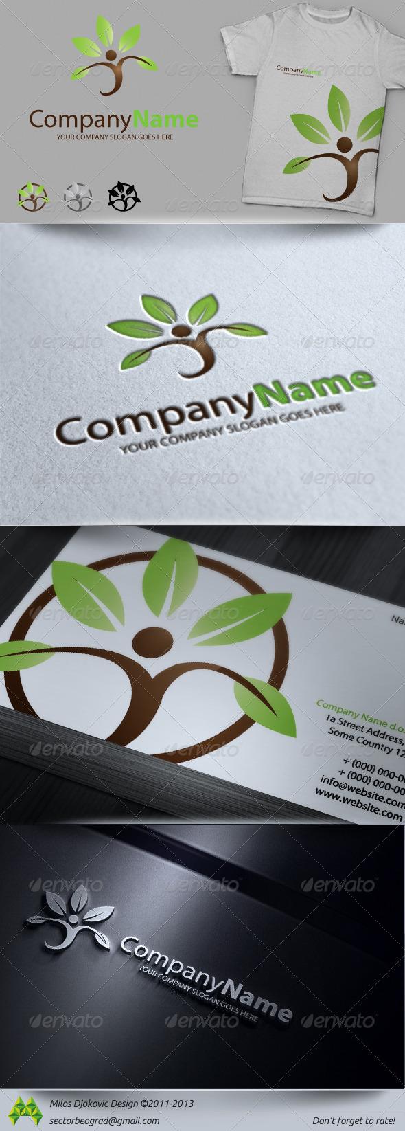 GraphicRiver Eco Health Logo 3786203