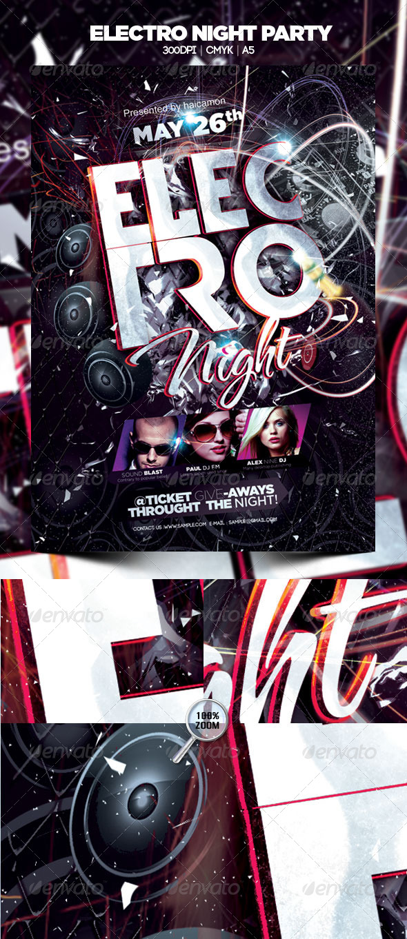 GraphicRiver Electro Night Party 4592605