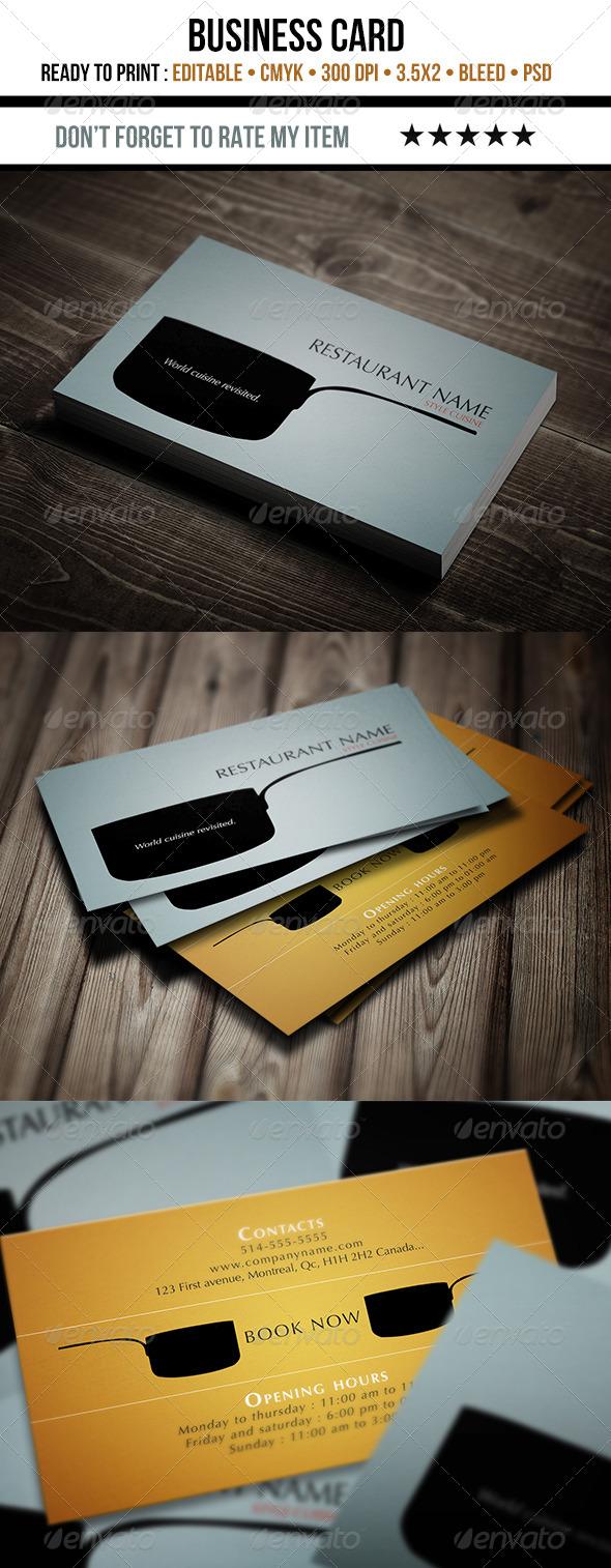 GraphicRiver Restaurant Business Card 4592718