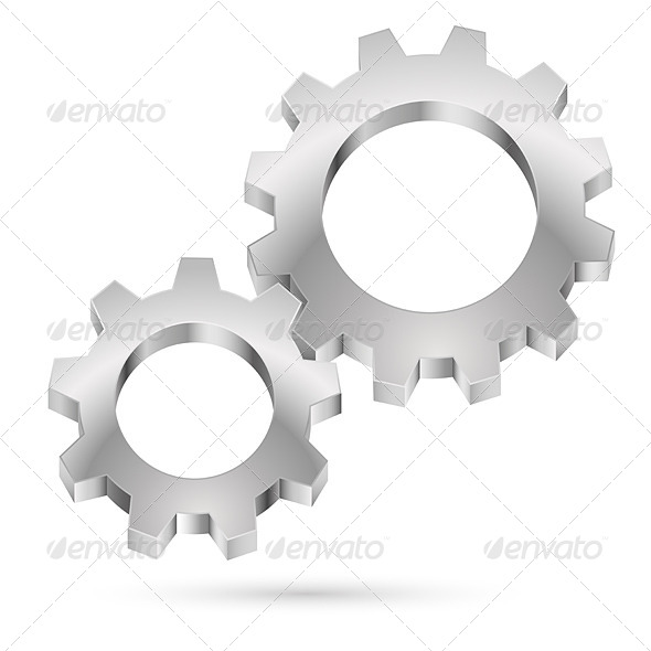 GraphicRiver Chrome Gearwheel 4592737