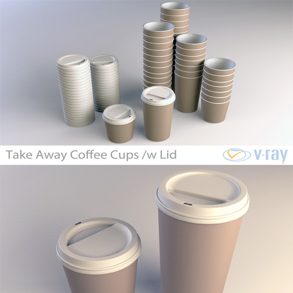 3DOcean Coffee Cup Take Away Vray 4592747