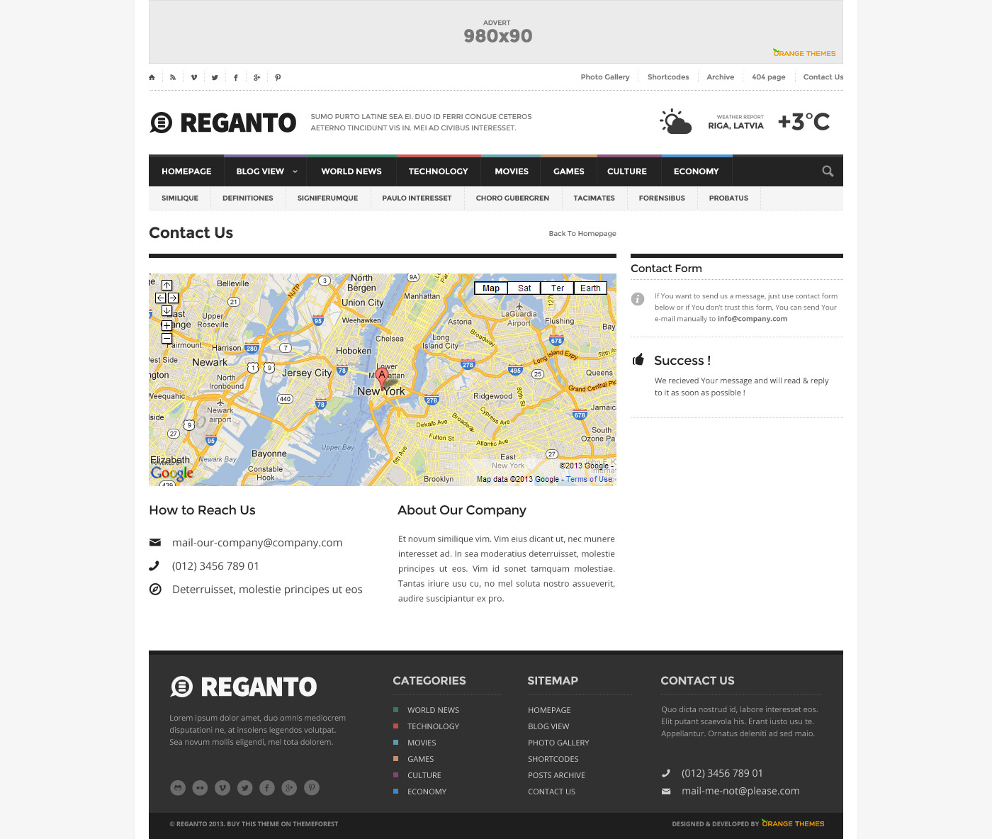 Reganto - Massive Magazine Theme