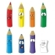 Cartoon Emotional Pencil Set Color 10 - GraphicRiver Item for Sale
