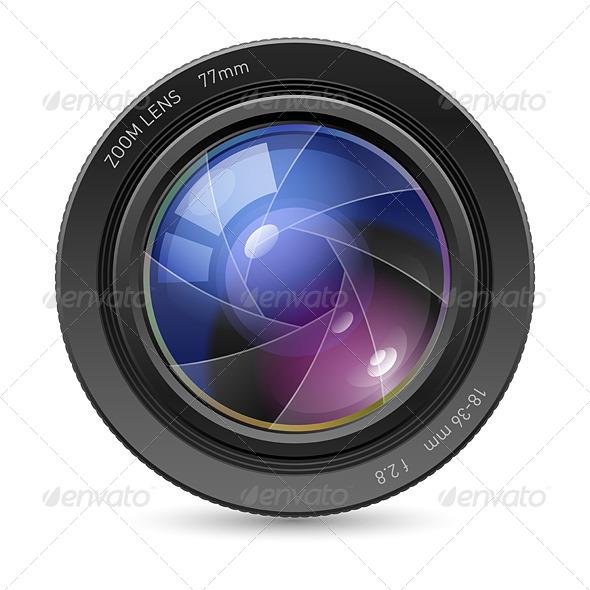 Camera Icon Lens