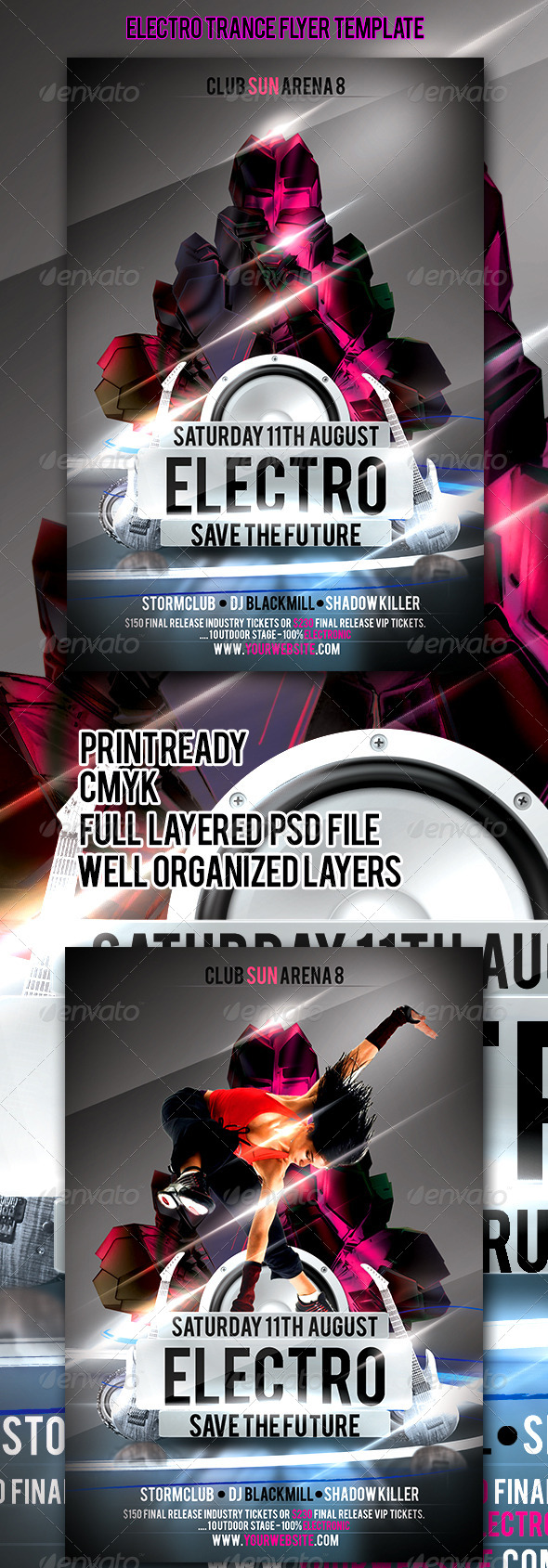GraphicRiver Electro Trance Flyer Template 4503241