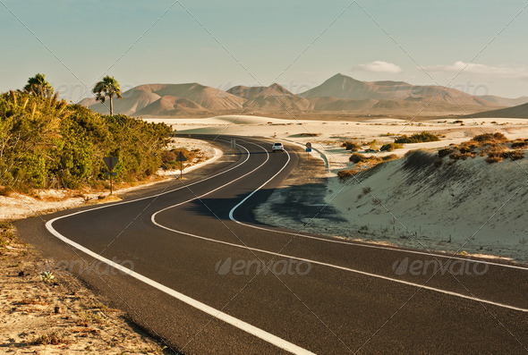 Desert Road - Stock Photo - Images